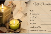 Massage Gift Certificate Templates | Gift Certificate Templates in Massage Gift Certificate Template Free Download