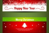 Merry Christmas Banner Templates | Free Vector within Merry Christmas Banner Template