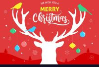 Merry Christmas Banner Xmas Template Background inside Merry Christmas Banner Template
