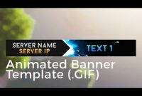 "Minecraft Animated Server Banner Template ""super Dazzle In Animated Banner Template"