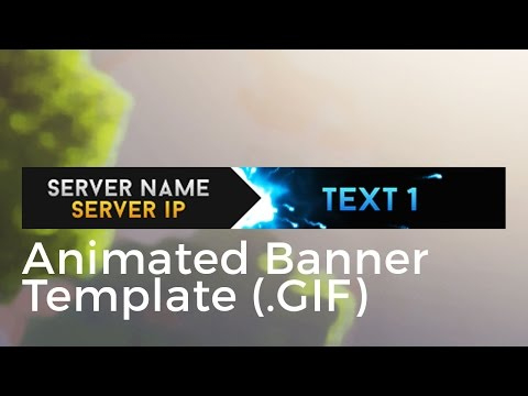 """Minecraft Animated Server Banner Template """"super Dazzle In Animated Banner Template"""