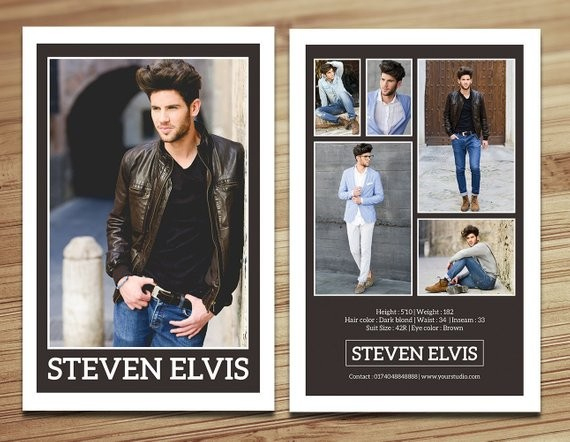 Model Comp Card Template Modeling Fashion Etsy – Carlynstudio Intended For Model Comp Card Template Free