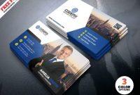 Modern Business Card Design Psd Template – Free Download throughout Modern Business Card Design Templates