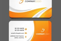 Modern Business Card Template With Abstract Design | Free Vector throughout Modern Business Card Design Templates