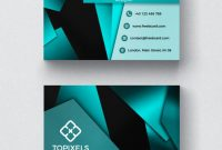 Modern Business Card With 3D Shapes | Free Psd File pertaining to Modern Business Card Design Templates