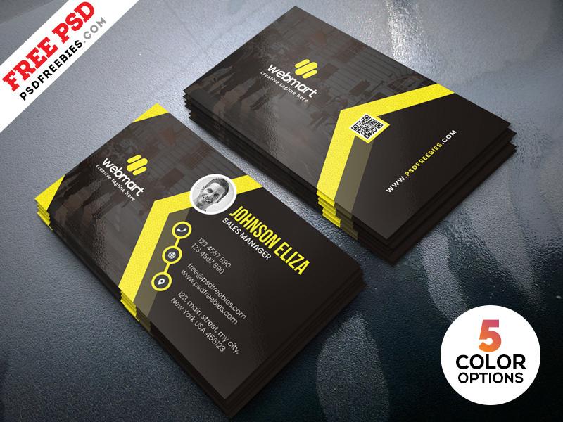 Modern Business Cards Design Templates Psdpsd Freebies inside Modern Business Card Design Templates