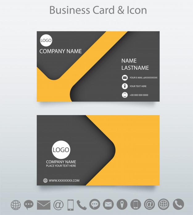 Modern Creative Business Card Template And Icon. | Premium for Web Design Business Cards Templates