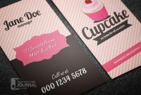 Modern Psd Free Cupcake Business Card Template Designed In pertaining to Cake Business Cards Templates Free