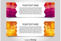 Modern Style Web Banner Templates – Download Free Vectors With Free Website Banner Templates Download