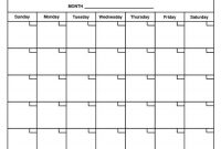 Month-At-A-Glance Calendar | Free Calendar Template throughout Month At A Glance Blank Calendar Template