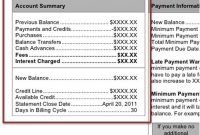 Monthly Credit Card Statement Walkthrough with regard to Credit Card Statement Template