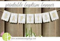 Mormon Mommy Printables: Free Printable Banner For Baptism with regard to Christening Banner Template Free
