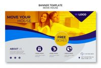 Move House Business Banner Template | Free Psd File with regard to Free Moving House Cards Templates