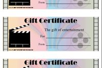 Movie Gift Certificate Printable Certificate with regard to Movie Gift Certificate Template