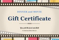 Movie Gift Certificate Template (6) – Templates Example inside Movie Gift Certificate Template