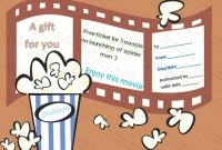 Movie Gift Certificate Templates | Gift Certificate Templates within Movie Gift Certificate Template