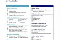 Moving Checklist Templates – Word Excel Fomats | Moving pertaining to Free Moving House Cards Templates