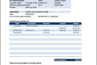 Ms Excel Billing Statement Invoice | Word & Excel Templates for Credit Card Statement Template Excel