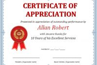 Ms Word Certificate Of Appreciation | Office Templates Online within Microsoft Word Certificate Templates