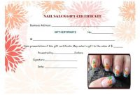 Nail Salon Gift Certificates | Gift Certificate Template with regard to Nail Gift Certificate Template Free