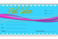 Nail Salon Gift Voucher Template Free 1 In 2020 | Gift regarding Nail Gift Certificate Template Free