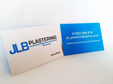 New Jlb Plastering Business Cards And Logo Design | Business For Plastering Business Cards Templates