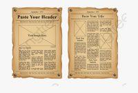 Newspaper Old – Old Newspaper Template Blank , Transparent in Old Blank Newspaper Template