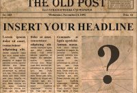 Newspaper Template – 9+ Download Free Documents In Pdf , Ppt in Old Blank Newspaper Template