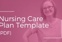 Nursing Care Plan Template (Pdf) – Nursing School Of Success with regard to Nursing Care Plan Templates Blank
