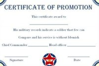 Officer Promotion Certificate Template - Trinity throughout Officer Promotion Certificate Template