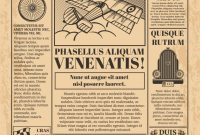 Old Newspaper Vector Template. Retro Newsprint With Text And inside Old Blank Newspaper Template