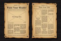 Old Newspaper Vector Templates – Download Free Vectors for Old Blank Newspaper Template