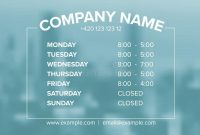 Opening Hours Template Stock Illustrations – 79 Opening with Business Hours Template Word
