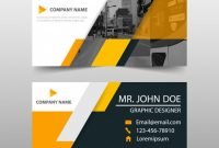 Orange Business Card Template Design | Free Vector With Transport Business Cards Templates Free