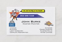 Painter Painting Contractor Business Card | Zazzle in Plastering Business Cards Templates