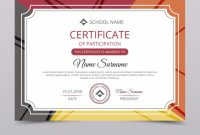 Participation Certificate Templates Free Download (4 in Participation Certificate Templates Free Download