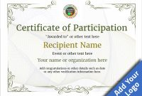 Participation Certificate Templates – Free, Printable, Add intended for Participation Certificate Templates Free Download