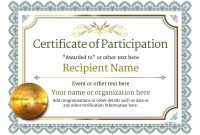 Participation Certificate Templates – Free, Printable, Add throughout Participation Certificate Templates Free Download