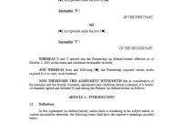 Partnership Agreement Template 01 | Letter Of Intent throughout Template For Business Partnership Agreement