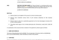 Partnership Agreement Template | Agreement Sample Templates within Template For Business Partnership Agreement