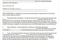 Partnership Agreement Template Free   Business Letter Format regarding Free Business Partnership Agreement Template Uk