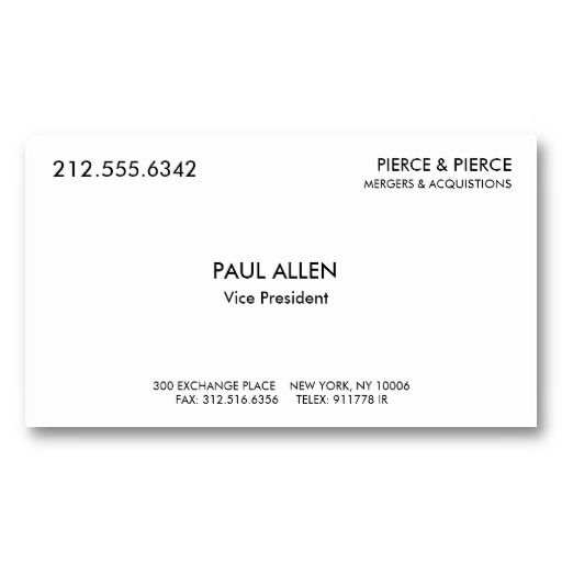 Paul Allen's Card Business Card | Business Card Template regarding Paul Allen Business Card Template