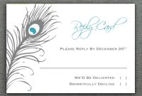 Peacock Feather Rsvp Card Template pertaining to Template For Rsvp Cards For Wedding