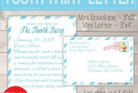 Personalized Tooth Fairy Letter Kit Boy, Printable Download First Lost  Tooth Note Set Envelope Template Pdf Digital Gift Idea No Teeth Cards with regard to Free Tooth Fairy Certificate Template