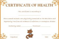 Pet Health Certificate Template: 9 Word Templates To for Dog Vaccination Certificate Template