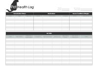 Pet Health Log pertaining to Dog Vaccination Certificate Template