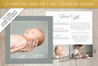 Photography Gift Certificate Template – Photo Gift Card – Layered .psd  Files – Design #28 pertaining to Gift Certificate Template Photoshop