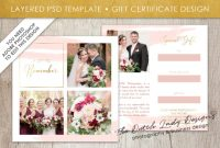Photography Gift Certificate Template – Photo Gift Card – Layered .psd  Files – Design #40 throughout Photoshoot Gift Certificate Template