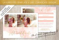 Photography Gift Certificate Template – Photo Gift Card – Watercolor Style  – Layered .psd Files – Design #43 with regard to Gift Certificate Template Photoshop