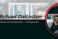 Photography Youtube Banner Template with Photography Banner Template